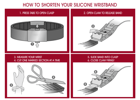 How to shorten your LifeTags wristband